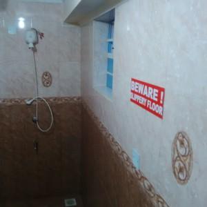 shower caution