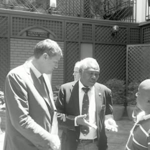 Tatu City's Stephen Jennings and Pius Ngugi