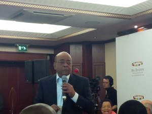 Mo Ibrahim at the 2014 Prize announcement