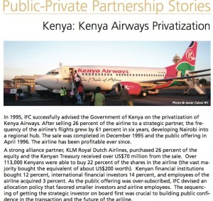 IFC celebrates KLM's investment in KQ