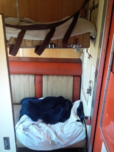 Train cabin beds