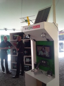 mkopa solar TV launch