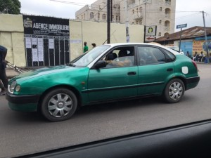 Brazzaville green taxis
