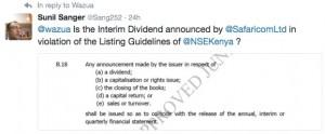 Safaricom bonus dividend