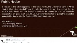 CBA bail