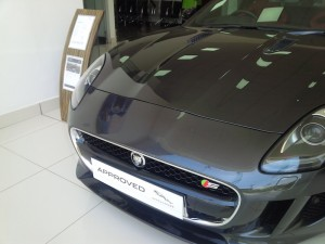 An F-Type Jaguar at RMA Motors, Kenya
