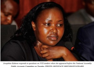 Kabura testifies at PAC (pic from Standard)
